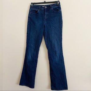 STYLE & CO tummy control bootcut dark wash jeans 6